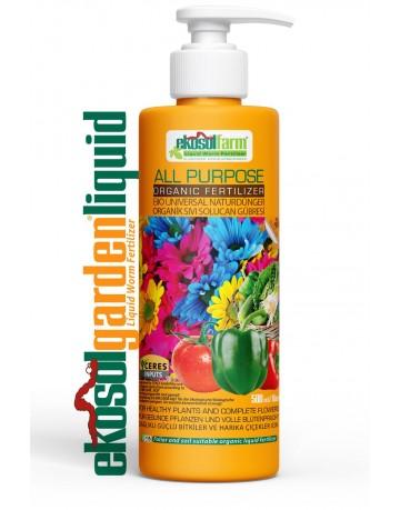 EkosolFarm Sıvı Organik Solucan Gübresi 500 ml Liquid Worm Fertilizer