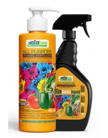 EkosolFarm Sıvı Organik Solucan Gübresi 500 ml + Sprey Şişesi Liquid Worm Fertilizer