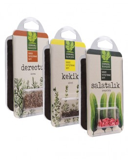 Osmanlı Bahçesi Çengelköy Salatalık + Kekik + Dereotu Tohumu + Organik Solucan Gübresi Paketi
