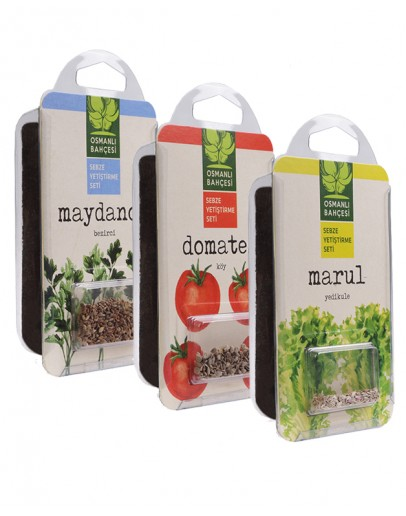 Osmanlı Bahçesi Köy Domatesi + Marul + Maydanoz Tohumu + Organik Solucan Gübresi Paketi