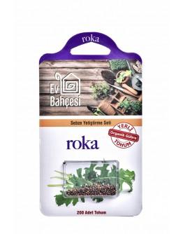 Ev Bahçesi Roka Sebze Yetiştirme Seti Organik Yerli Tohum