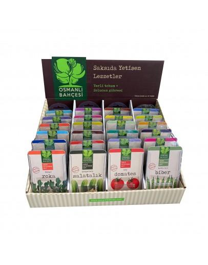 Osmanlı Bahçesi 24 Çeşit Yerli Tohum Sebze Yetiştirme Seti